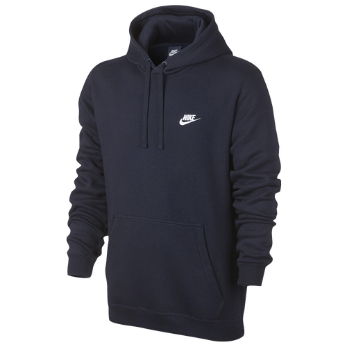 Nike Club Fleece Pullover Hoodie - Men's - Casual - Clothing -  Obsidian/Obsidian/White