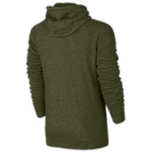 Nike Legacy Full Zip Hoodie - Men's - Olive Green / Olive Green