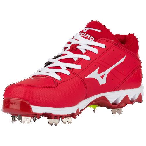 Mizuno 9-Spike Swift 4 - Women's Softball - Red/White 05101000