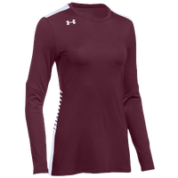 Under Armour Team Endless Power L/S Jersey - Women's - Maroon / White