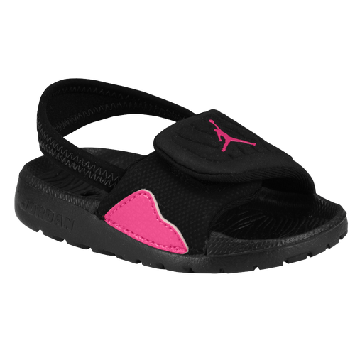 723a8d662924a5 Jordan Hydro 4 Girls Toddler Casual Shoes Black Vivid Pink delicate ...