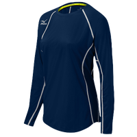 Mizuno Team Core Balboa Long Sleeve Jersey - Women's - Navy / White