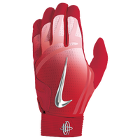 Nike Huarache Elite Batting Gloves - Men's - Red / Silver
