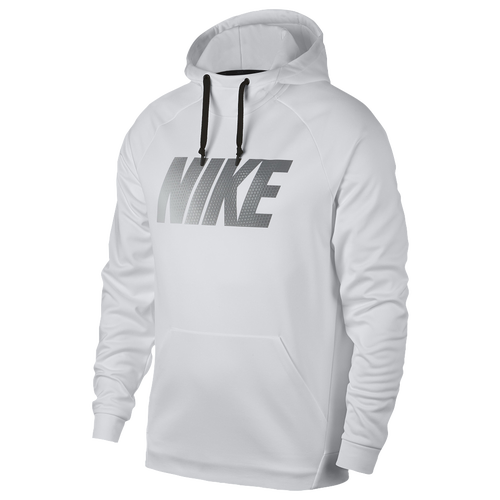 Nike Therma Hoodie - Men's - Training - Clothing - White