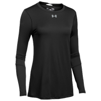 Under Armour Team Locker L/S T-Shirt - Women's - Black / Silver