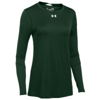 Under Armour Team Locker L/S T-Shirt - Women's - Dark Green / Silver