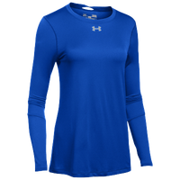 Under Armour Team Locker L/S T-Shirt - Women's - Blue / Silver