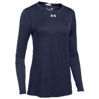 Under Armour Team Locker L/S T-Shirt - Women's - Navy / Silver