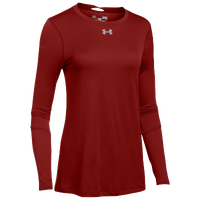 Under Armour Team Locker L/S T-Shirt - Women's - Cardinal / Silver