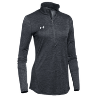 Under Armour Team Novelty Locker 1/2 Zip - Women's - Black / Silver