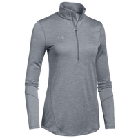 Under Armour Team Novelty Locker 1/2 Zip - Women's - Grey / Silver