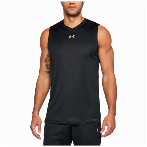 Under Armour Select Tank - Men's - Basketball - Clothing - Black/Metallic  Victory Gold