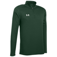 Under Armour Team Novelty Locker 1/4 Zip - Men's - Dark Green / Silver