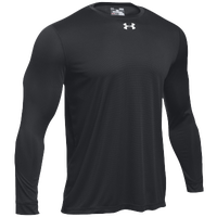 Under Armour Team Locker 2.0 L/S T-Shirt - Boys' Grade School - Black / Silver