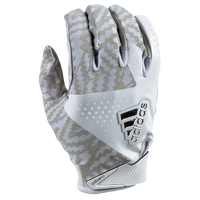 adidas adiZero 5.0 Football Gloves - Men's - White / Grey