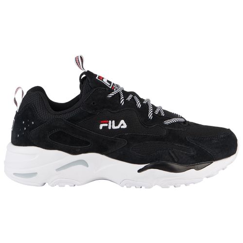 Fila Ray Tracer - Men's - Casual - Shoes - Black/White/Red