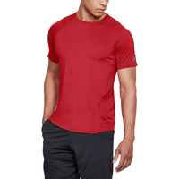 Under Armour MK1 Fitted Short Sleeve Tee - Men's - Red / Grey