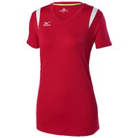 Mizuno Balboa 5.0 S/S Volleyball Jersey - Women's - Red / Silver