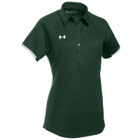 Under Armour Team Rival Polo - Women's - Dark Green / White