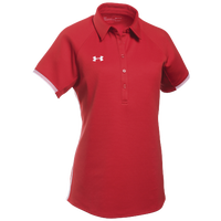 Under Armour Team Rival Polo - Women's - Red / White