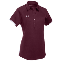 Under Armour Team Rival Polo - Women's - Maroon / White