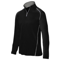 Mizuno Compression 1/4 Zip L/S Batting Jacket - Men's - Black / Black