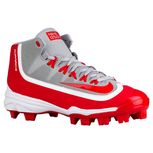 Nike Alpha Huarache 2K Filth Pro Mid MCS - Men\u0027s - Grey / Red