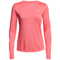 Under Armour Tech Long Sleeve T-Shirt - Women's - Pink / Grey