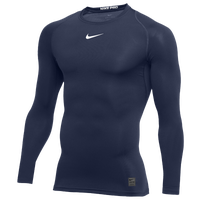 Nike Pro Long Sleeve Compression Top - Men's - Navy