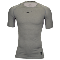 Nike Pro Short Sleeve Compression Top - Men's - Grey