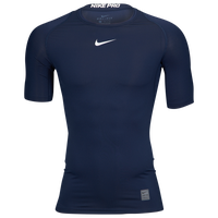Nike Pro Short Sleeve Compression Top - Men's - Navy