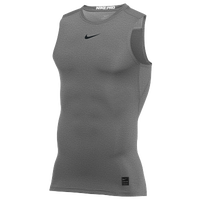 Nike Pro Sleeveless Compression Top - Men's - Grey / Black
