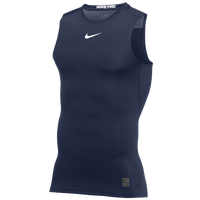 Nike Pro Sleeveless Compression Top - Men's - Navy / White