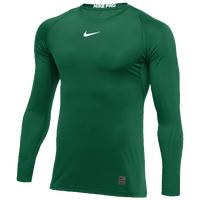 Nike Team Pro Fitted L/S Top - Men's - Green / Green