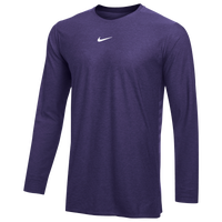 Nike Team Authentic Dry L/S Top - Men's - Purple / White