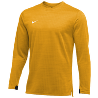 Nike Team Authentic Modern Therma L/S Top - Men's - Gold / White