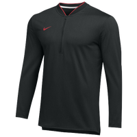 Nike Team Authentic 1/2 Zip Coaches Top - Men's - Black / Red