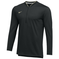 Nike Team Authentic 1/2 Zip Coaches Top - Men's - Black / Gold