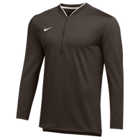 Nike Team Authentic 1/2 Zip Coaches Top - Men's - Brown