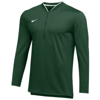 Nike Team Authentic 1/2 Zip Coaches Top - Men's - Green / White