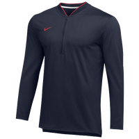 Nike Team Authentic 1/2 Zip Coaches Top - Men's - Navy / Red