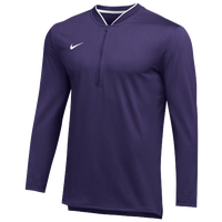 Nike Team Authentic 1/2 Zip Coaches Top - Men's - Purple / White