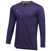 Nike Team Authentic 1/2 Zip Coaches Top - Men's - Purple / Gold
