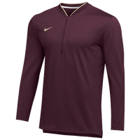 Nike Team Authentic 1/2 Zip Coaches Top - Men's - Maroon / Gold