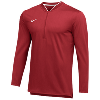 Nike Team Authentic 1/2 Zip Coaches Top - Men's - Red / White