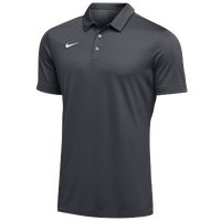 Nike Team S/S Polo - Men's - Grey / White