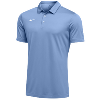 Nike Team S/S Polo - Men's - Light Blue / White