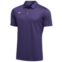 Nike Team S/S Polo - Men's - Purple / White