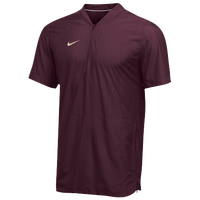 Nike Team Authentic Lockdown S/S Jacket - Men's - Maroon / Gold