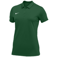 Nike Team S/S Polo - Women's - Dark Green / White